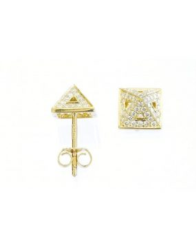 adorn-hollow-pyramid-earrings-dublin