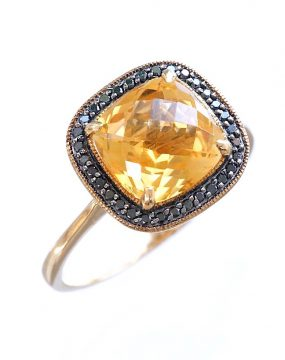 diamond and citrine ring